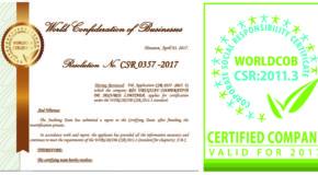 WORLDCOB re-certificó a RUS como empresa socialmente responsable