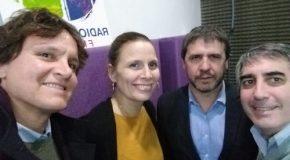 Solange y Santiago Seigneur, de Fianzas y Crédito, junto a Carlos Enrique Grandjean, de La Equitativa del Plata, en El Seguro y la Prevención.