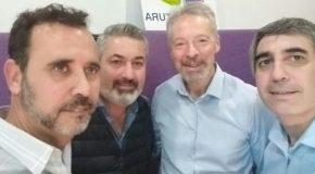 Andrés Faragó (Faragó & Corrales) junto a Roberto Saba y Nicolás Saurit (AAPAS) en El Seguro y la Prevención