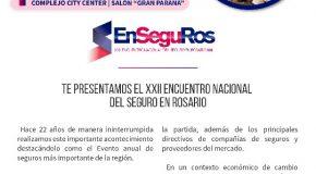 El 8 de noviembre se realizará EnSeguRos2019, en Rosario