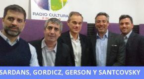 La plana mayor de Orbis: Gerson, Gordicz y Santcovsky. Planes de una Compañía que se expande. Sardans, sobre como administrar el patrimonio.