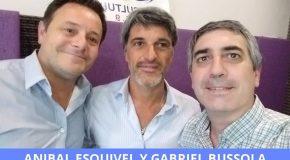 Gabriel Bussola, Presidente de Libra Seguros, y Anibal Esquivel, Subgerente de Caución de INSUR.