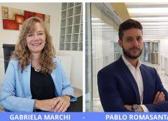 Gabriela Marchi (Previnca) y Pablo Romasanta (Romasanta & Asoc). Más facturación.